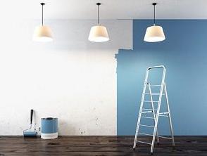 צביעת קירות הסלון